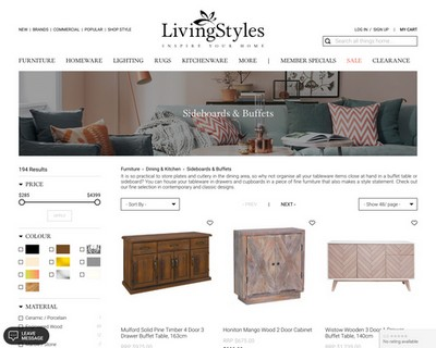 10% Off Buffet Tables / Sideboards, 7 Days Offer, Ends 18/09 Midnight! - Living Styles