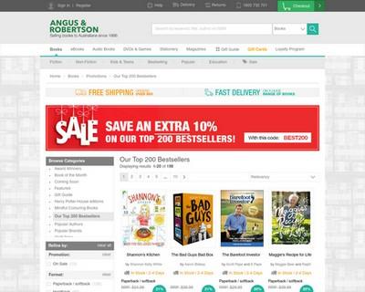 10% OFF  Top 200 Bestsellers | Angus & Robertson  - Angus & Robertson Bookworld