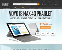 2018 Tablect PC Voyo i8 Max 4G Phablet Flash Sale from $199.99 - GearBest.com