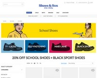 20% Off School Shoes and Black Sport Shoes - Shoes & Sox