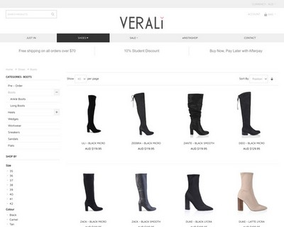 30% OFF All Boots at Verali Shoes - Verali Shoes