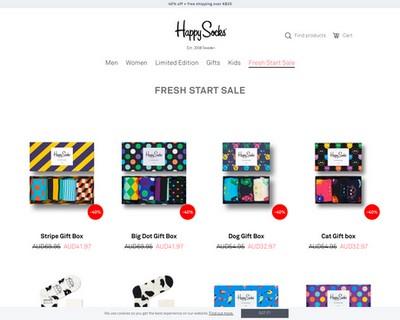 40% OFF + Free Shipping @ Happy Socks - Happy Socks Australia