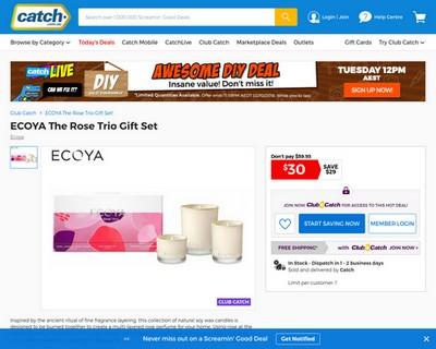 5 DAYS LEFT! ECOYA The Rose Trio Gift Set - Catch