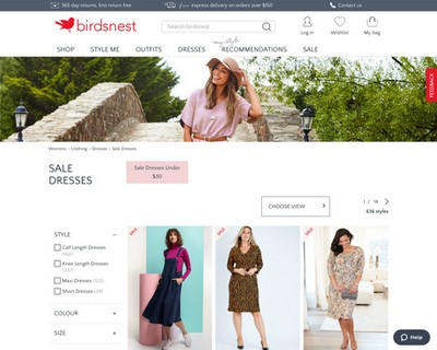 Another 25% OFF of all SALE Dresses | only for today at birdsnest - Birdsnest