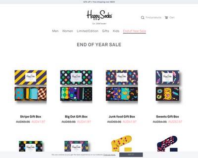 End of Year Sale 40% OFF @ Happy Socks - Happy Socks Australia