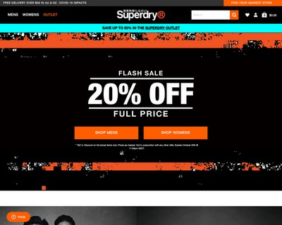 Flash Sale - 20% Full Price Items @ Superdry - Superdry