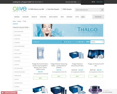 Indulge your passion for Thalgo! 26% Off plus Free Gift | Alive Skin + Hair - Alive Skin + Hair