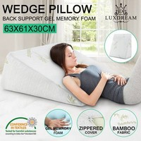 Luxdream Memory Foam and Cool Gel Wedge Pillow - Crazy Sales