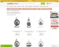 SALE | $100 Off New Wicker Hanging Egg Chairs - Luxo Living