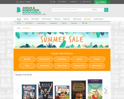 Summer Sale   Bargains from $2.95   Angus Robertson Book World - Angus & Robertson Bookworld