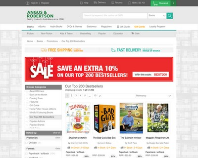 Take a further 10% OFF   Top 200 Bestsellers   Angus & Robertson - Angus & Robertson Bookworld