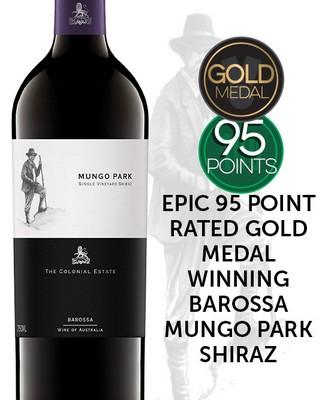 The Colonial Estate Mungo Park Single Vineyard Old Vine Barossa Valley Shiraz 2017 - Get Wines Direct